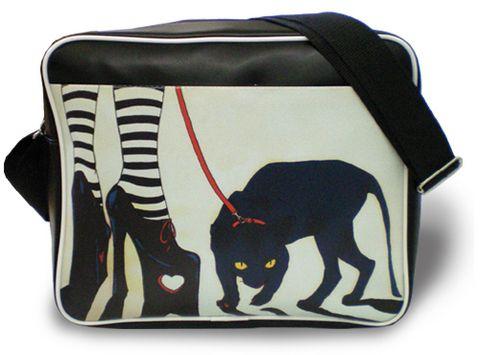 """Молодежная сумка """"ПодЪполье"""" Black cat"""