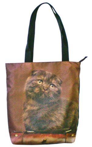"""Авоська """"ПодЪполье"""" Brown cat"""