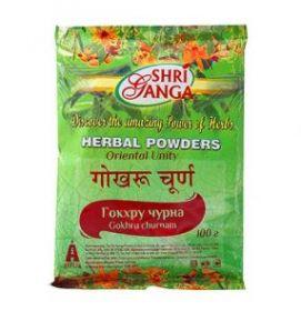 Гокхру чурна / Gokhru churnam (Гокшуради чурна / Gokshuradi churnam) Shri Ganga Pharmacy 100г