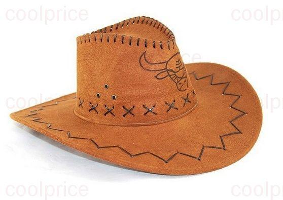 Ковбойская шляпа с изображением быка