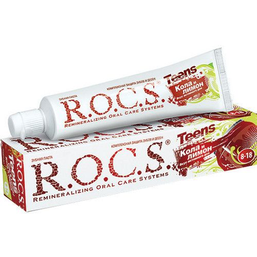 "R.O.C.S. зубная паста ""Вкус активного дня Кола и лимон"", 74 г"
