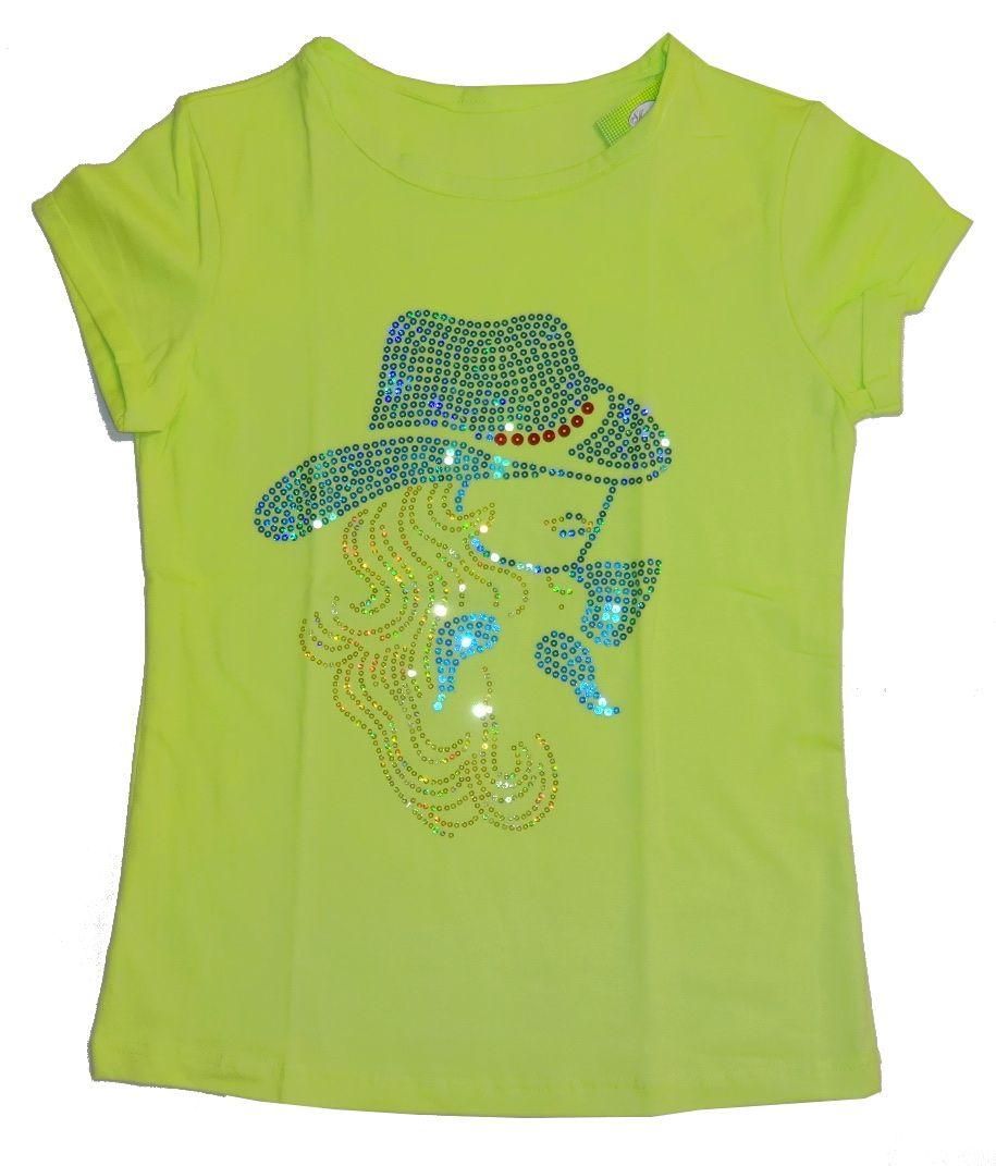 Блузка для девочки с пайетками