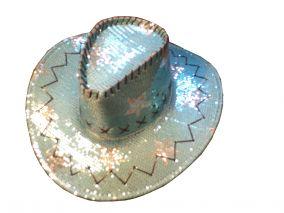 Ковбойская шляпа блестящая