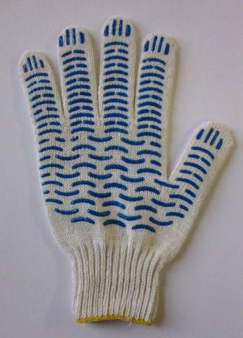перчатки рабочие хб 4 нити 7 класс стандарт+  волна