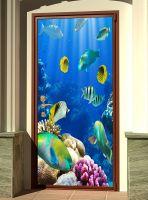 Наклейка на дверь - Лагуна