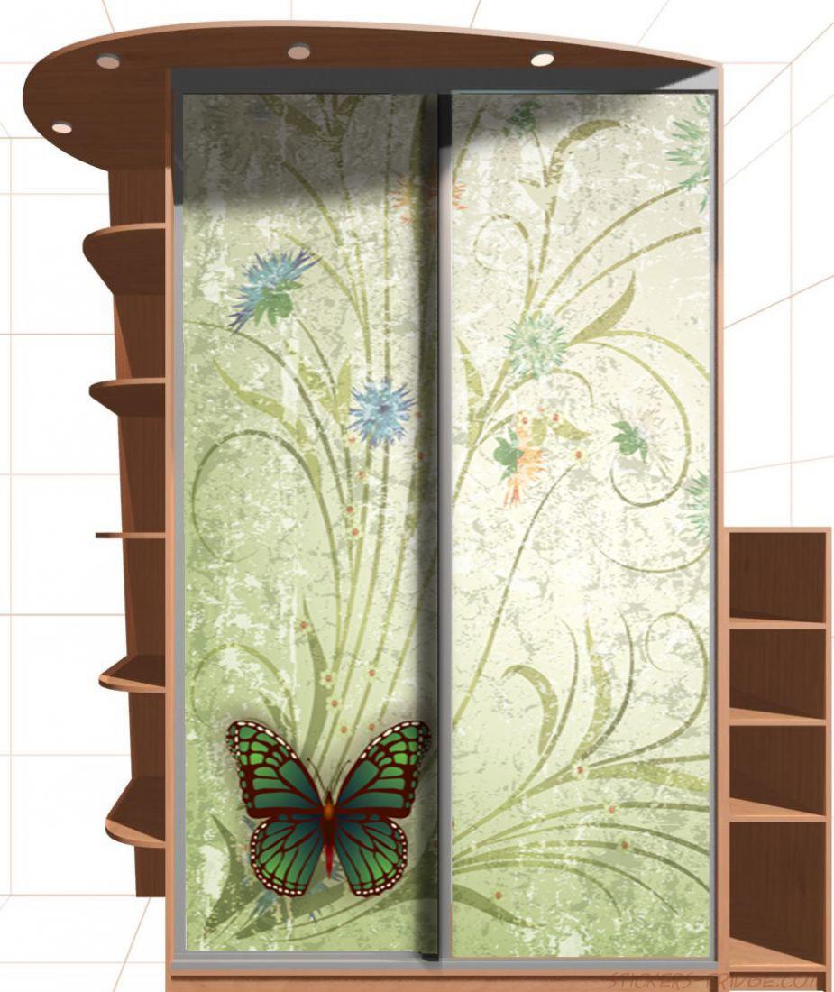 Наклейка на шкаф - Сбор пыльцы