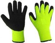 перчатки рабочие из акрила утепленные 10 класс облитые толстым слоем латекса