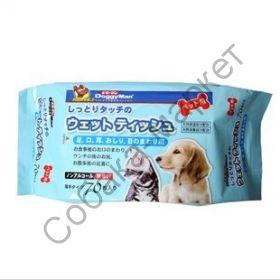 Салфетки влажные 70шт Doggy Man Япония