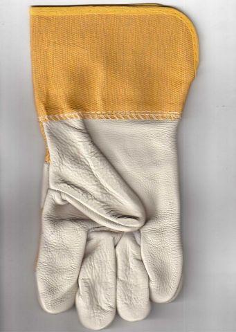 перчатки юкон кожаные комбинированные на краге удлиненные