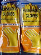перчатки хозяйственные с хлопковым напылением лотос люкс 1 - й сорт