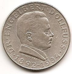 Смерть канцлера Энгельберта Дольфуса(1892-1934) 2 шиллинга Австрия 1934