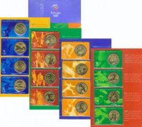 Олимпийские игры в Сиднее Набор монет. Австралия 5 долларов, 2000 год.  (28 шт.)