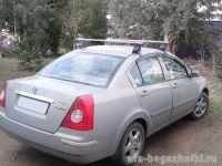 Багажник на крышу Chery Fora / Vortex Estina, Атлант, прямоугольные дуги