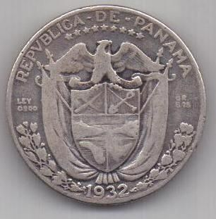 1/4 бальбоа 1932 г. редкий год. Панама