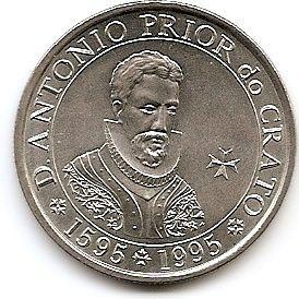 400 лет Антонио  приор Де Крато  100 эскудо Португалия 1995