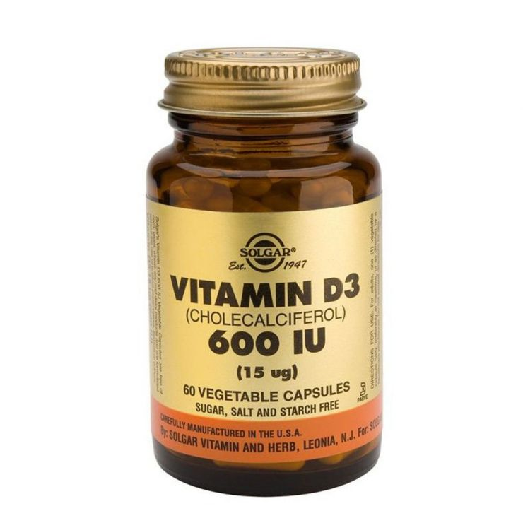 Солгар Витамин D3 600 МЕ (60 капсул)