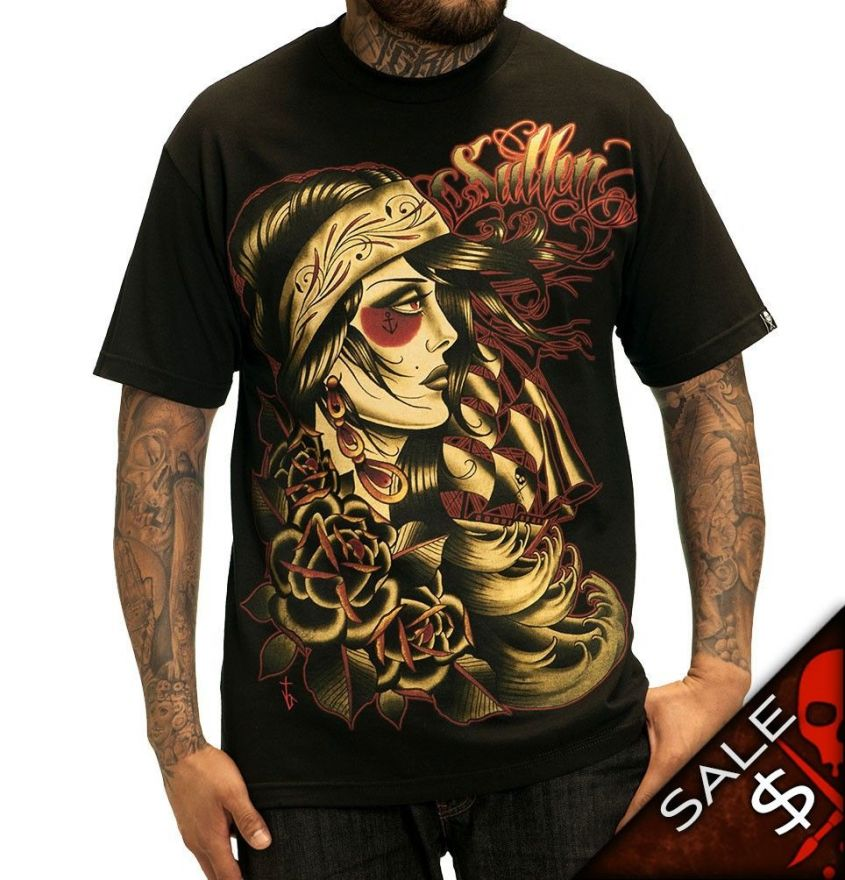 Sullen SEA OF SORROWS BLACK TEE