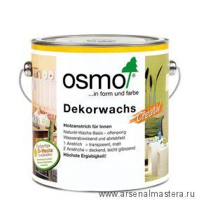 """Цветное масло для древесины """"Креатив"""" Osmo Dekorwachs Creativ 3188 Снег, 2,5л"""