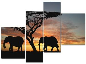 Модульные картины Слоны