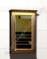 "Шкаф-зеркало для ванной комнаты с подсветкой ""Челси-1 АЛЕКС-55R орех"""