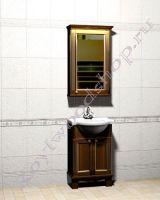 """Комплект мебели для ванной """"Челси-1 АЛЕКС-55R орех"""""""