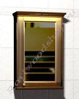 """Зеркальный шкаф для ванной комнаты с подсветкой """"Челси-1 АЛЕКС-60R орех"""""""