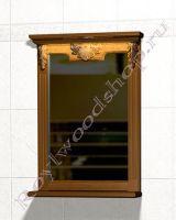 """Зеркало в ванную комнату из дерева """"Челси-2 УОРВИК-55 орех"""""""