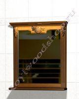 "Зеркало для ванных ""Челси-2 УОРВИК-80 орех"" из дерева"