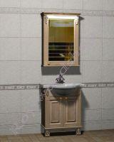 """Гарнитур для ванной комнаты из дерева """"Челси-2 УОРВИК-60 береза"""" с зеркалом-шкафом (правая ориентация)"""