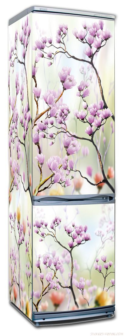 Наклейка на холодильник  - Искусство цветения