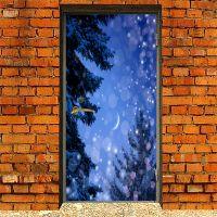 Наклейка на дверь - Закрывая глаза