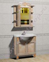 """Мебель для ванной из массива дерева """"Глазго Эндрю-80R береза"""""""