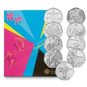 Олимпиада Лондон 2012 Великобритания  Набор 29 монет  x 50 пенсов 2011  на заказ