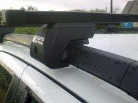 Багажник на крышу - стальные прямоугольные дуги на рейлинги Suzuki SX4, Евродеталь