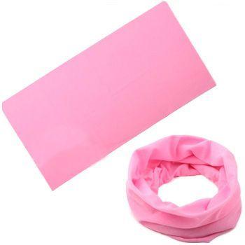 Многофункциональная бандана трансформер розовая