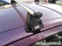 Багажник на крышу Peugeot 107, Menabo, алюминиевые аэродинамические дуги