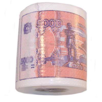 "Туалетная бумага ""5000 рублей"" мини ( 6 шт)"