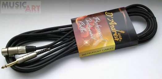 D`Andrea MCG-30 Микрофонный кабель XLR (F) <-> jack, 9 м