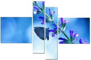 Модульная картина Бабочка на цветке
