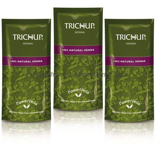 Натуральная хна для волос и мехенди Васу Тричуп (Vasu Trichup Natural Henna Powder)
