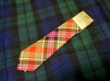 Истинно шотландский клетчатый галстук 100% шерсть , расцветка королевский клан Брюс
