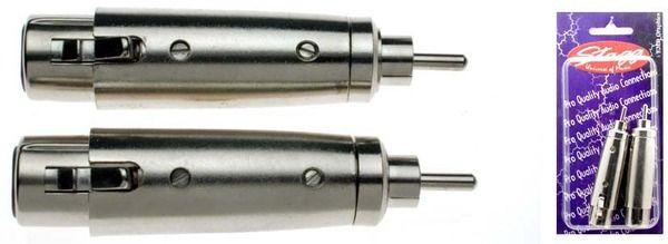 STAGG AC-XFCMH Female XLR/ male RCA adaptor