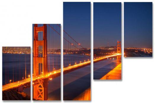 Модульная картина Мост над заливом