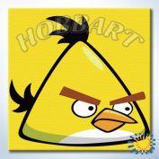"""Картина по номерам """"Angry Birds. Свирепый желтый"""""""