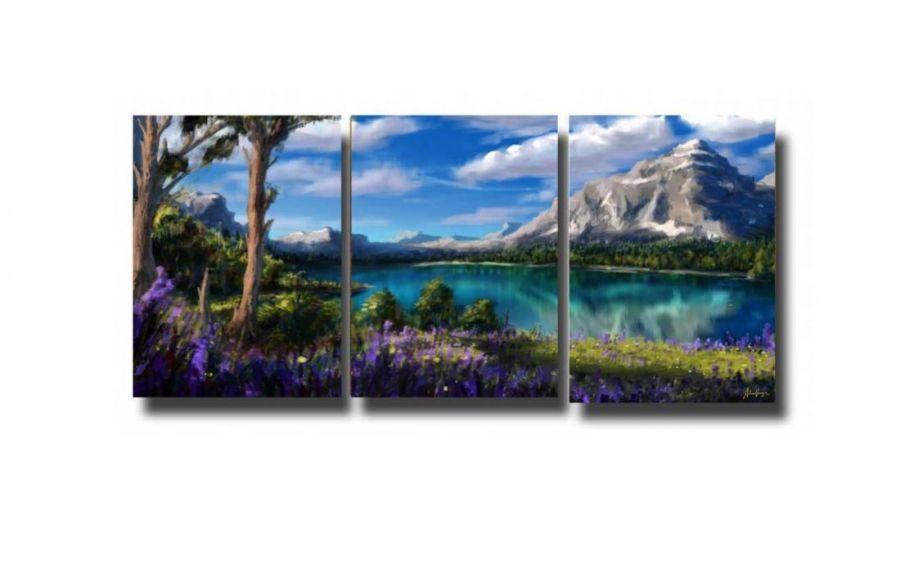 Модульная картина У озера