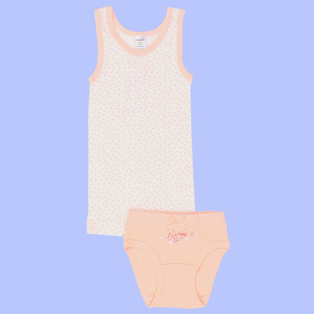 Персиковый комплект белья для девочки