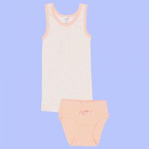 персиковое нижнее белье для девочки