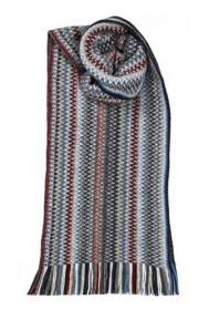 модный вязаный шотландский  шарф Zig Zag Arctic Непокоренная Арктика, плотность 7
