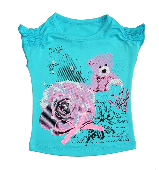 Майка для девочки Розовый букет