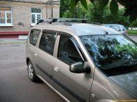 Багажник на рейлинги Лада Ларгус, Евродеталь, аэродинамические дуги